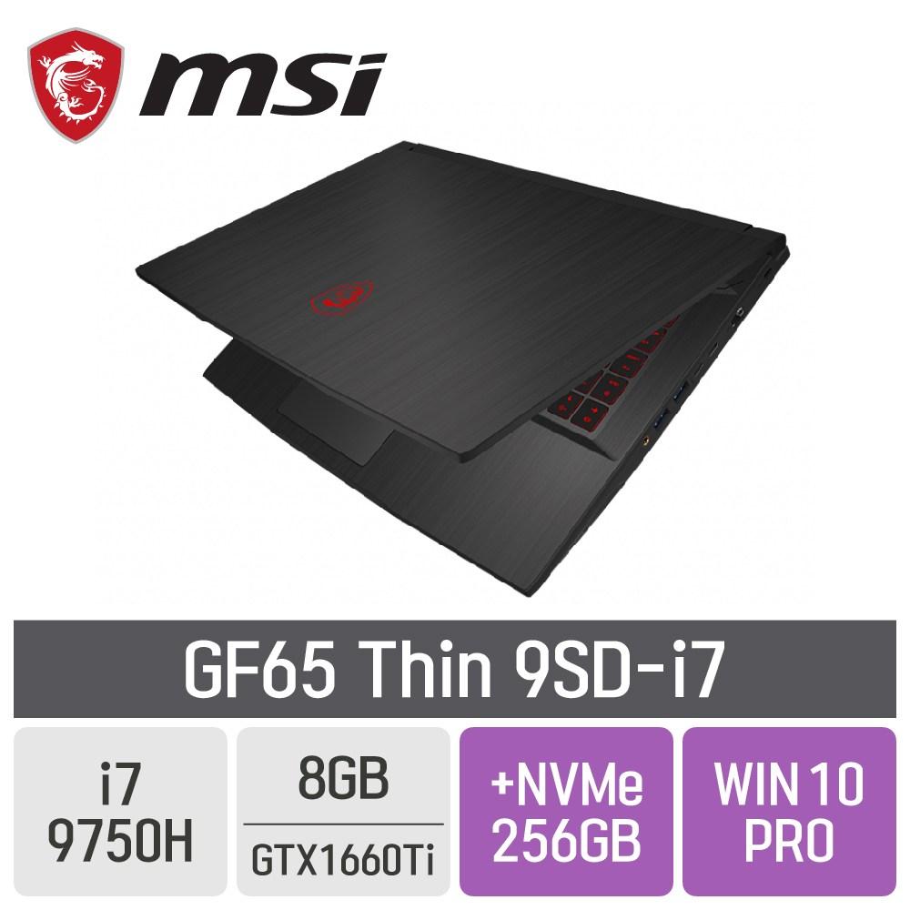 MSI GF65 Thin 9SD-i7 [게이밍마우스 증정], 8GB, SSD 256GB + SSD 256GB, 포함