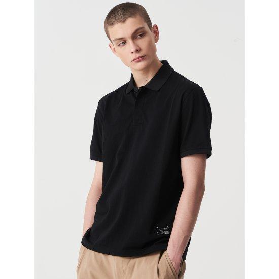 빈폴스포츠 블랙 남성 시어서커 티셔츠 (BO0342D815)