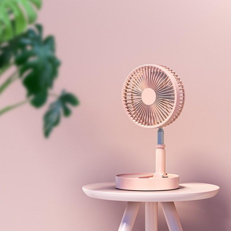 샤오미 4세대프로 무선 선풍기 접이식 무소음 스탠드 써큘레이터, 핑크 길이조절가+ 리모컨 (POP 5624364071)