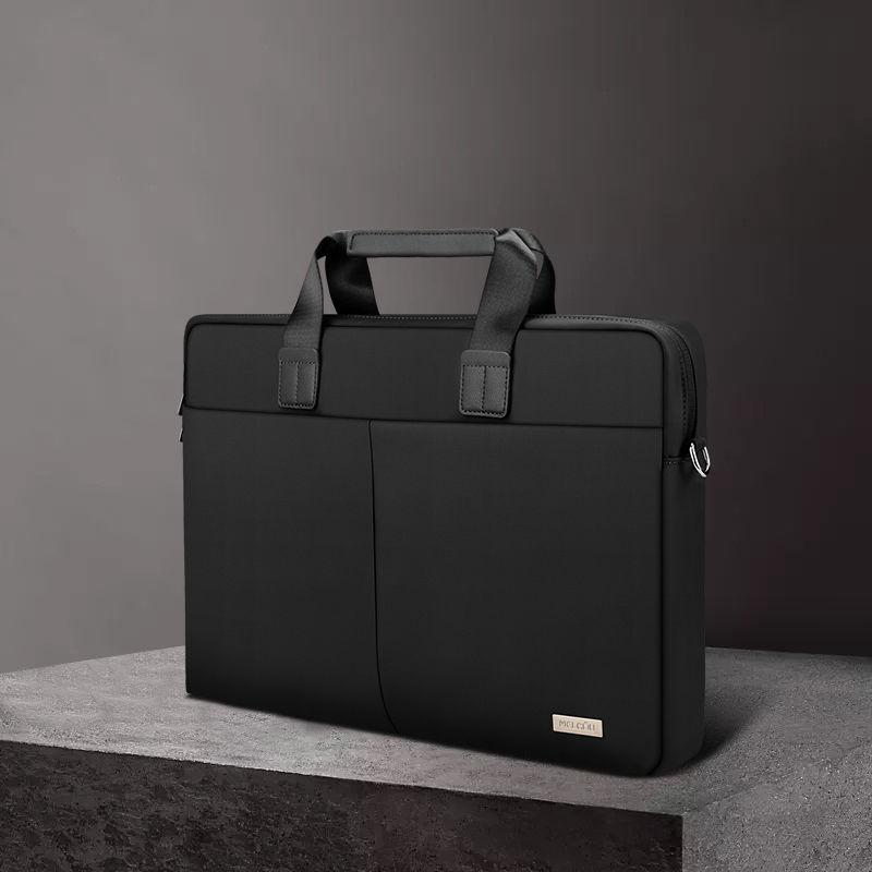 노트북가방 손으로드는 사용 마이크로소프트 surfacepro7/go2/12.3inch/13.5인치 귀여운 심플 상큼 부속품 대용량 노트비지니스 가벼운 서류가방, C06-라이트그레이/두께/어깨끈