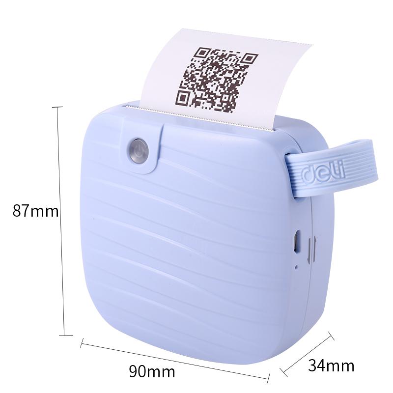 미니 블루투스 휴대용 모바일 프린터 142718, 블루