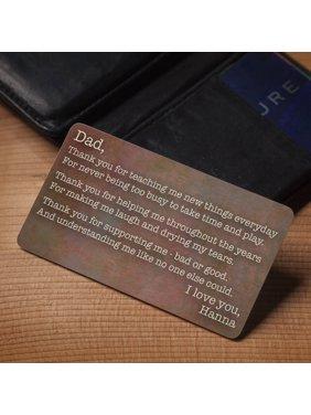 그에게 개인화된 지갑 카드는