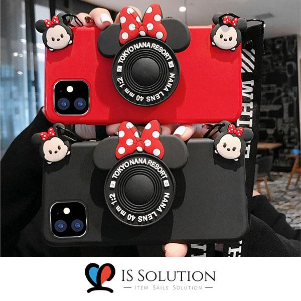 글커코3- 갤럭시 a40 a50 a60 a70 a80 캐릭터 카메라 그립톡 케이스 귀여운 마우스 디자인 실리콘 케이스 스마트톡 세트 소