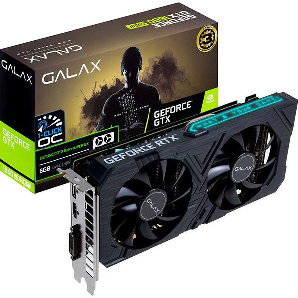 IBO657151BLACK [Galaxy] EX GeForce SUPER OC GTX1660 6GB D6, 단일옵션