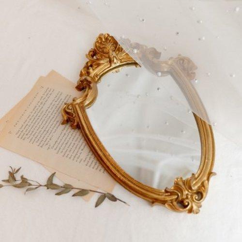 [텐바이텐] 빈티지 골드 엔틱 미니 벽 거울, 단일상품