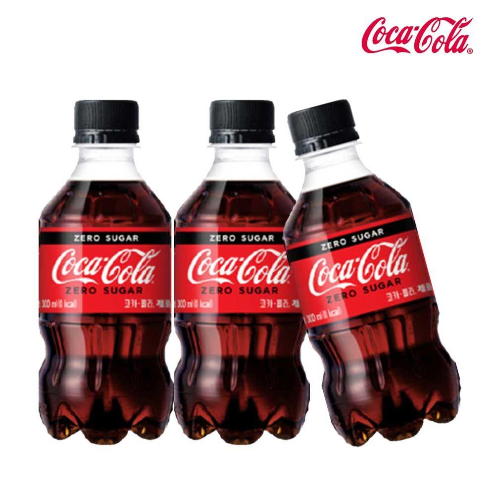 코카콜라 제로 300ml X 6개 탄산음료 제로콜라