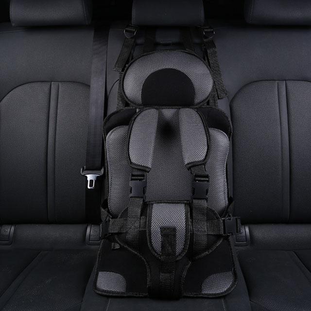 더블해피몰 휴대용 간편 유아 카시트 보조시트 어린이 안전벨트 2종 8칼라, 소형 블랙