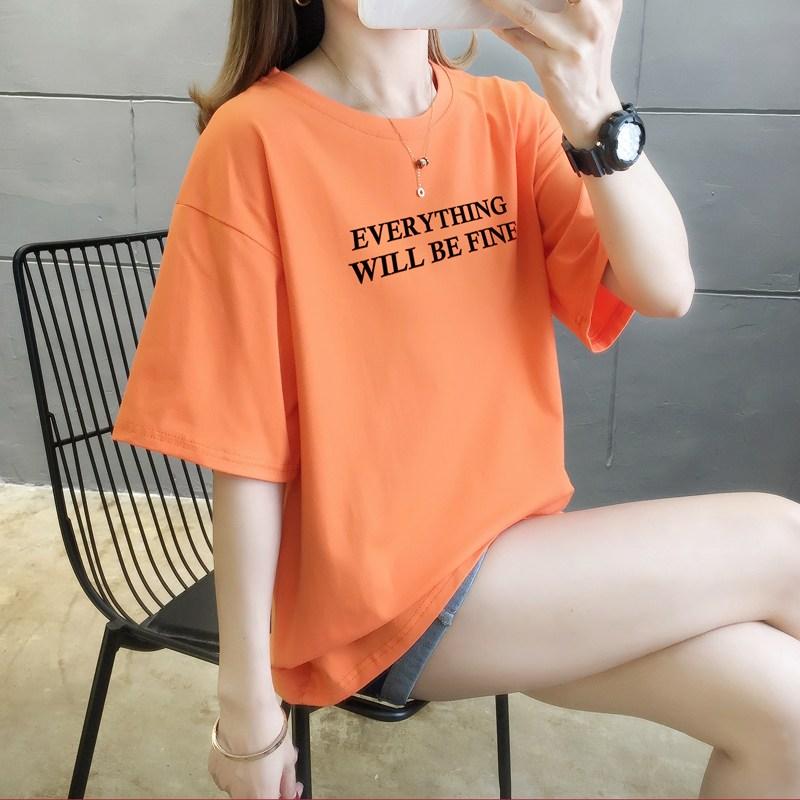 바다갈때옷 여성 반팔 티셔츠 프린팅 하트 퍼플 탑