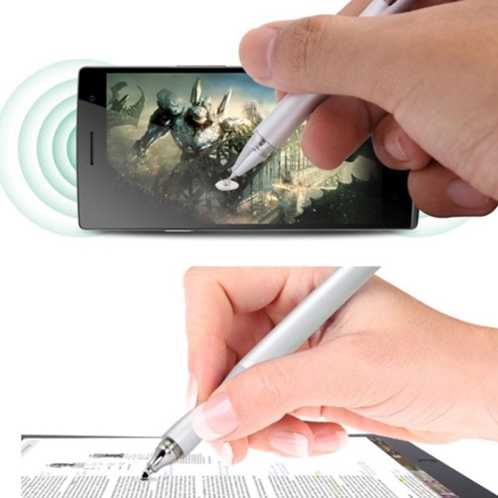 az1hibS 초미세 스마트폰 & 태블릿 전용 터치펜 정전식 터치 호환 규왯 BB734_79 섬세하고 정밀한 터치감, 1개, 실버