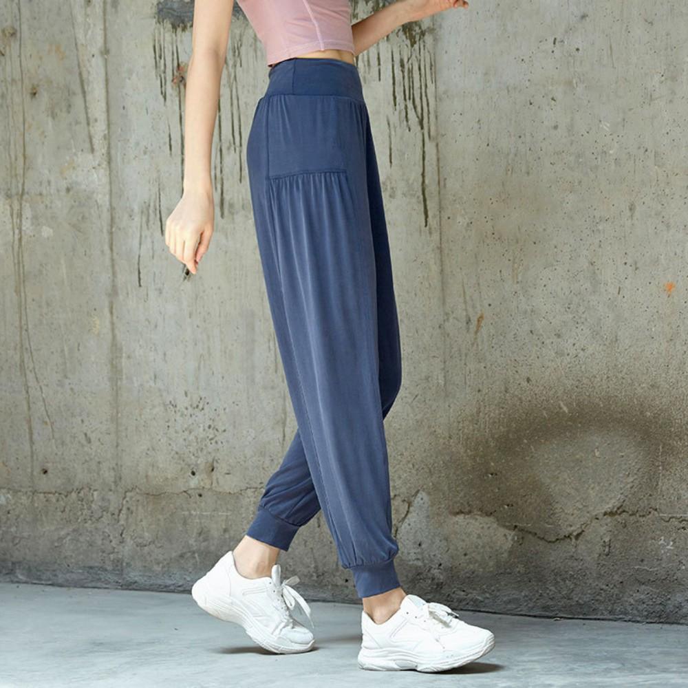 룰루레몬 요가 필라테스 여성 상의 세트 옷 복 피트 니스 여름 얇은 빠른 건조 허리 요가 바지를 실행