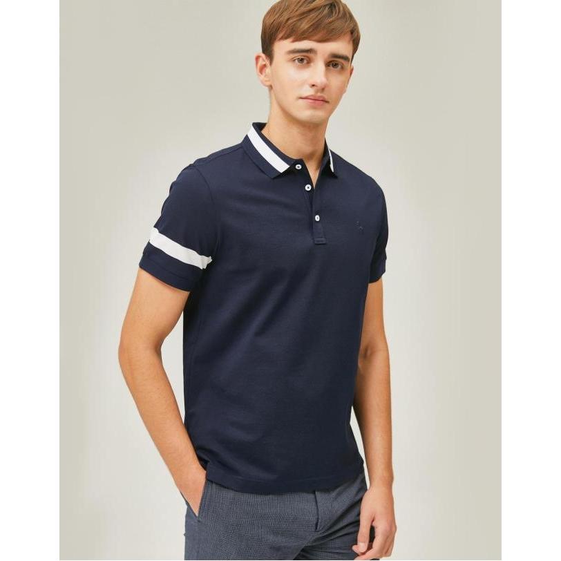 헤지스 남성용 라인배색 면 반팔 폴로 티셔츠 WHTS9B001N2
