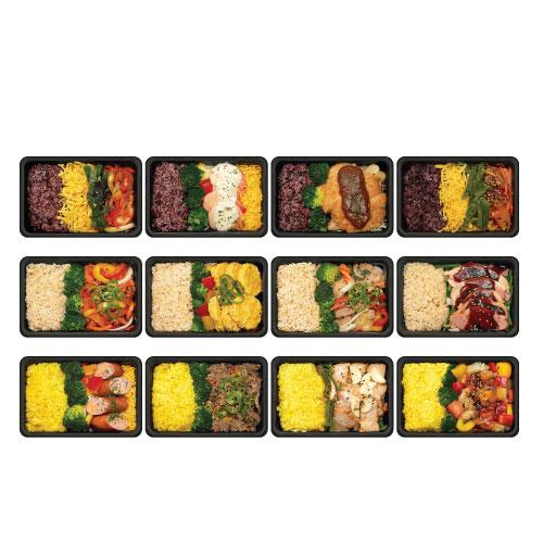 샐러드보울 프리미엄 혼밥 냉동도시락 넉넉소반 12종 세트, 1세트