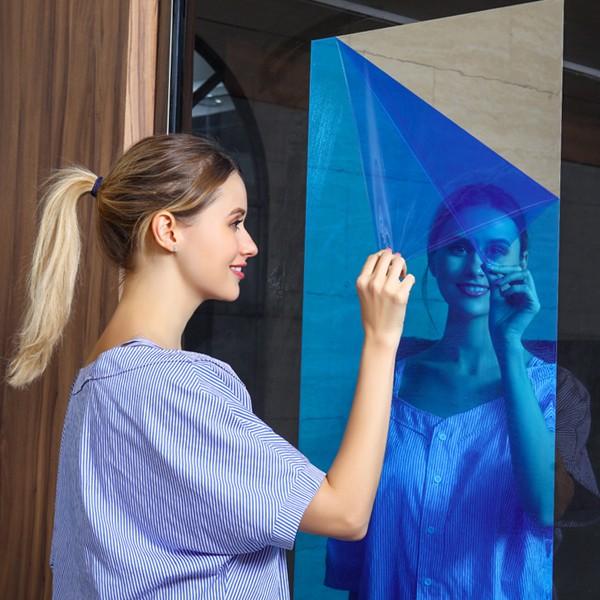 붙이는 프리미엄 거울시트지 미러거울 썬팅지, 붙이는거울-0.2mm50X100