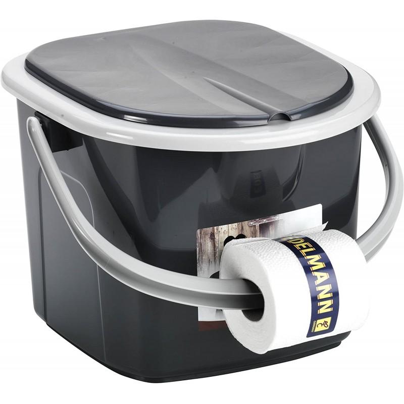 [독일 직배송] 화장실 BRANQ 15.5 리터 캠핑 화장실 화장실 양동이 여행 화장실 야외, 단일옵션, 단일옵션