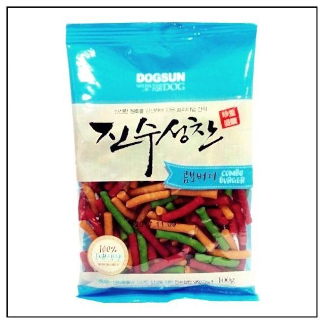 ksw13815 진수성찬 버거 콤보 100g강아지간식, 단품