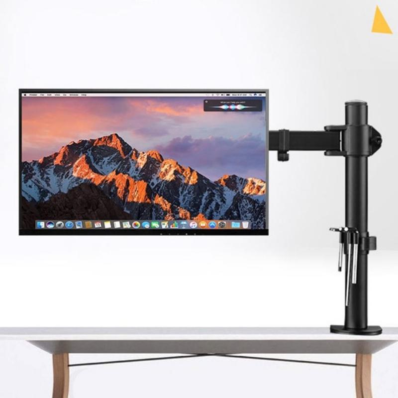 컴퓨터 모니터암 높이조절 세로회전 앞뒤각도조절 게임 주식 다용도 스탠드 모니터거치대, 13-32 인치 블랙 올 스틸  높이 40CM