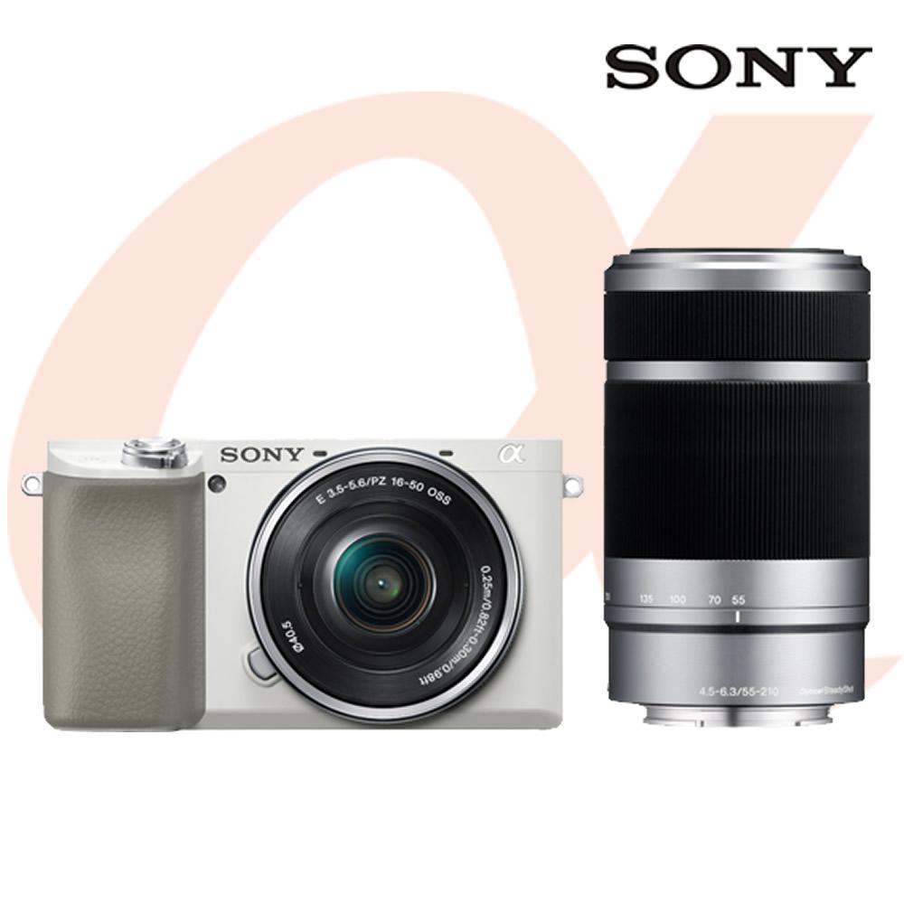 소니 미러리스 알파 A6100 (SELP1650+SEL55210렌즈포함)공식대리점 미러리스카메라, 화이트