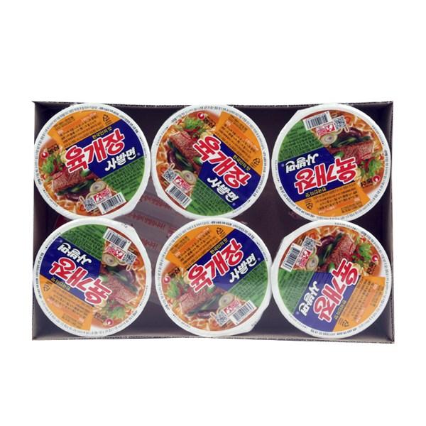 육개장 사발면 86g 6입 X 8 간편한 한끼 식사, 단일상품