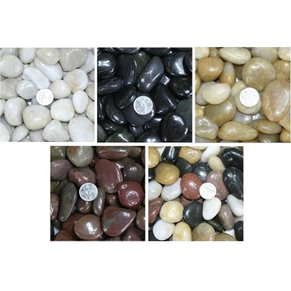 우화석(강자갈) 광택 대포장 화분돌 정원꾸미기 정원돌/에그스톤/정원돌/화분돌/에그석/정원꾸미기/백자, 우화석(광택)(검정)(20kg)