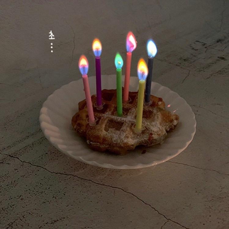 쁘아 파티초 생일초 이벤트초 예쁜 색깔초(12pcs), 색깔초12(pcs)