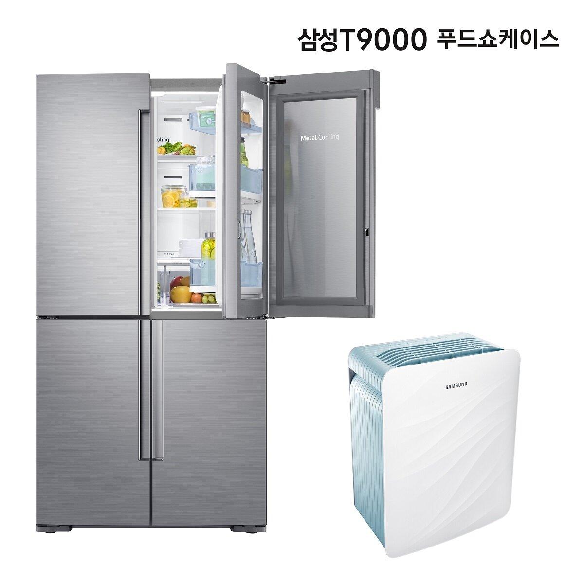 (+삼성 공기청정기) 삼성 냉장고 T9000 푸드쇼케이스 RF84R9203S8 (5도어/848L/맞춤보관실)