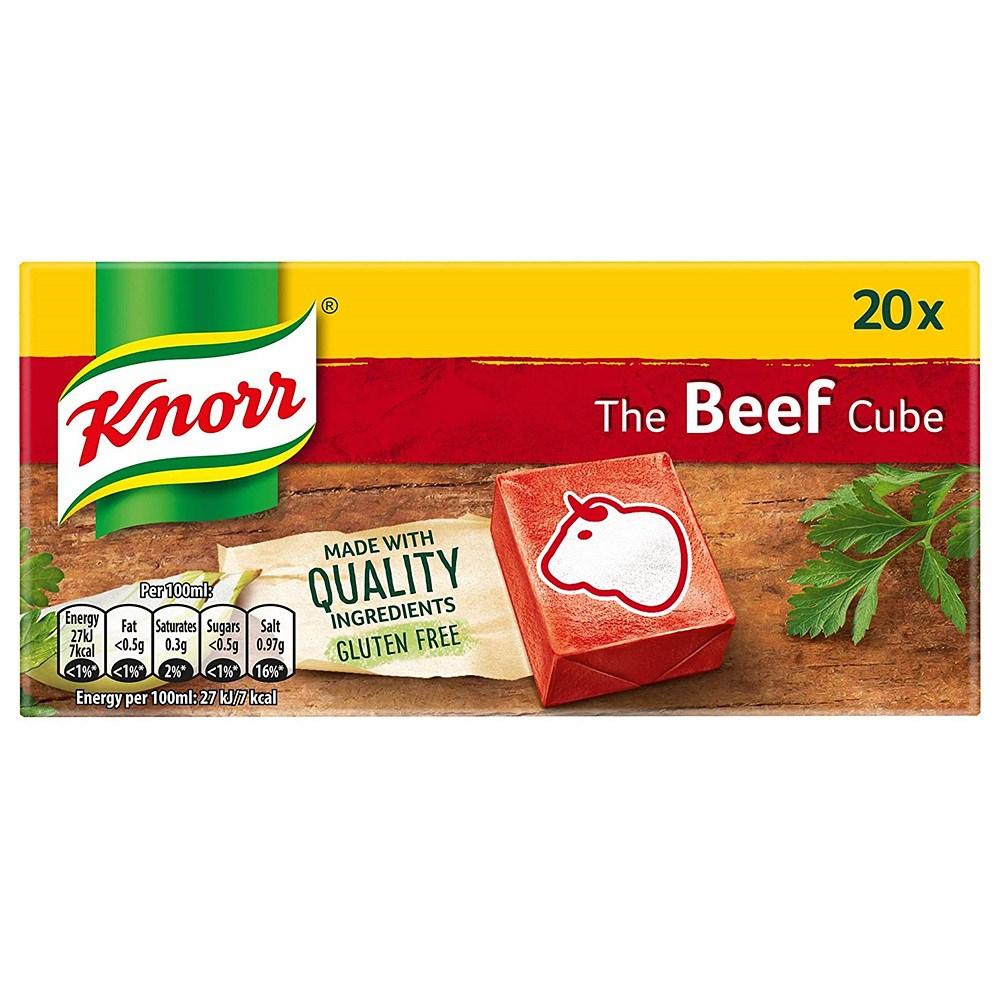 Knorr 크노르 비프스톡 큐브 Beef Stock Cubes 20개입 200g 1팩