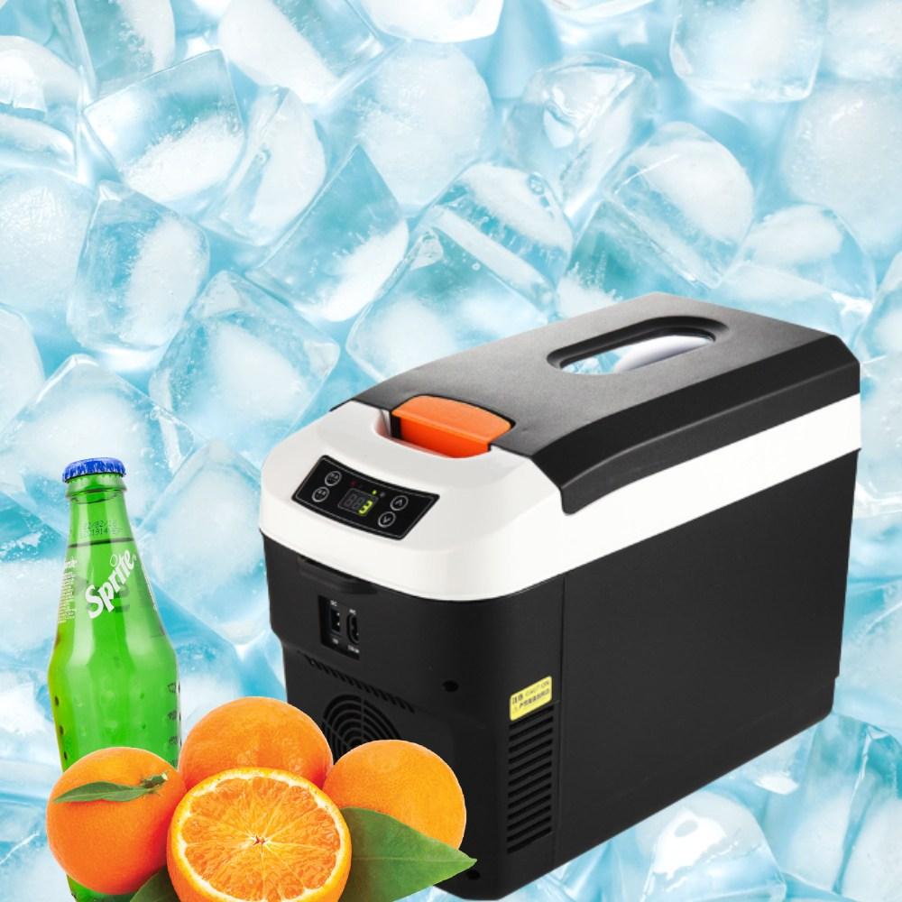 미니냉동고 차량용전자렌지 차량용온냉장고 이동식 차박냉장고, 블랙, 12L