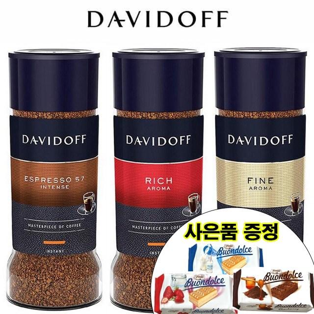 다비도프 커피 100g 4종 프리미엄커피, 4.크레마인텐스 90g, 2병