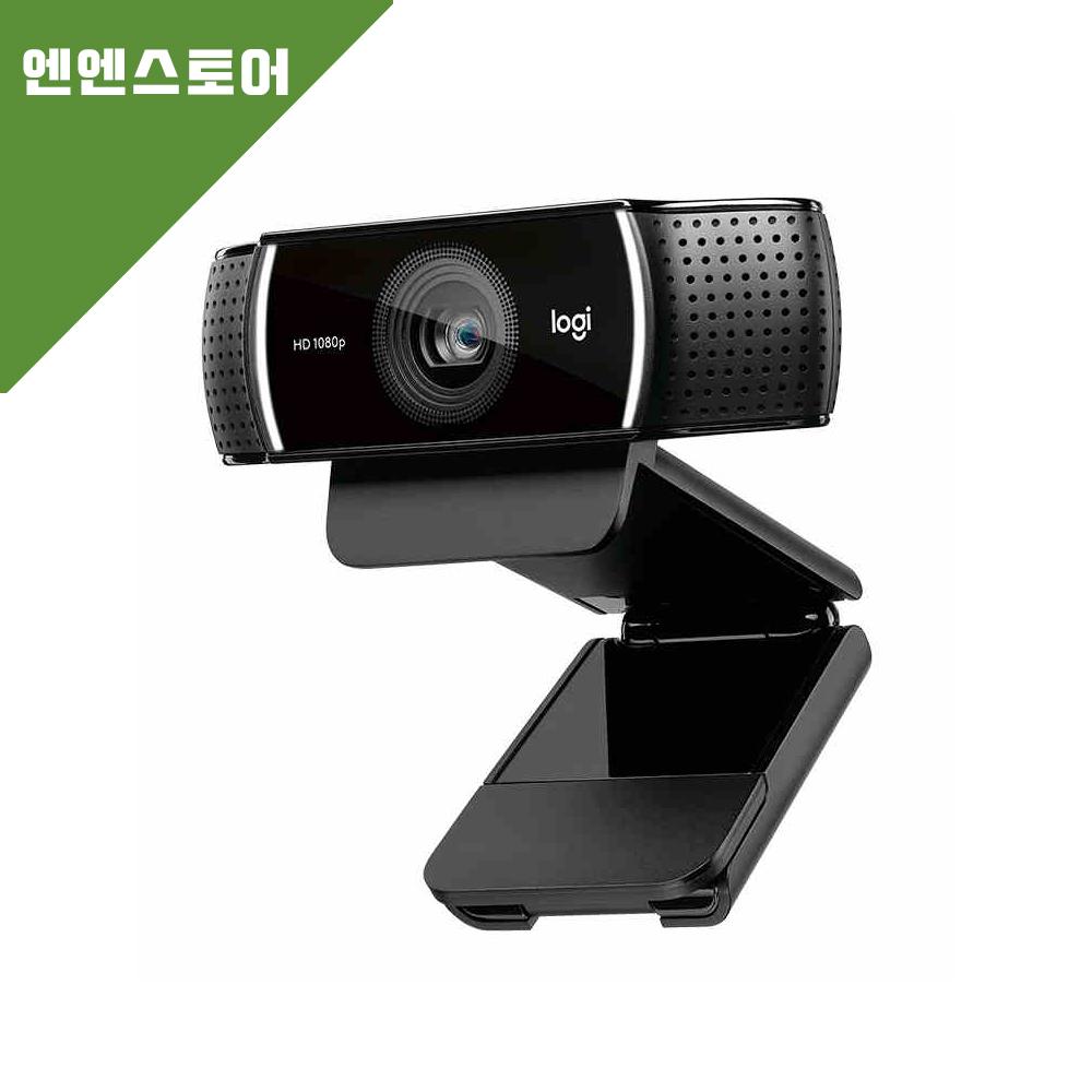 로지텍 C922 프로스트림 웹캠, 블랙, 로지텍 c922 pro