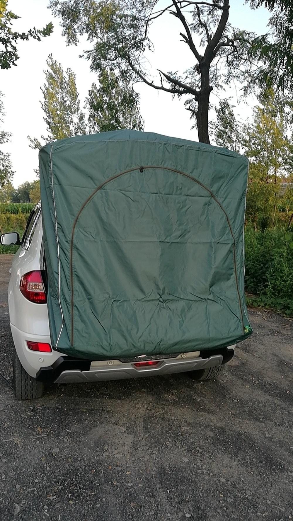 이효리 제주 속초 감성 캠핑 카박 도킹 차량 후방 연결 차박하기 좋은 차 텐트 쉘터 용품, 05-짙은 녹색