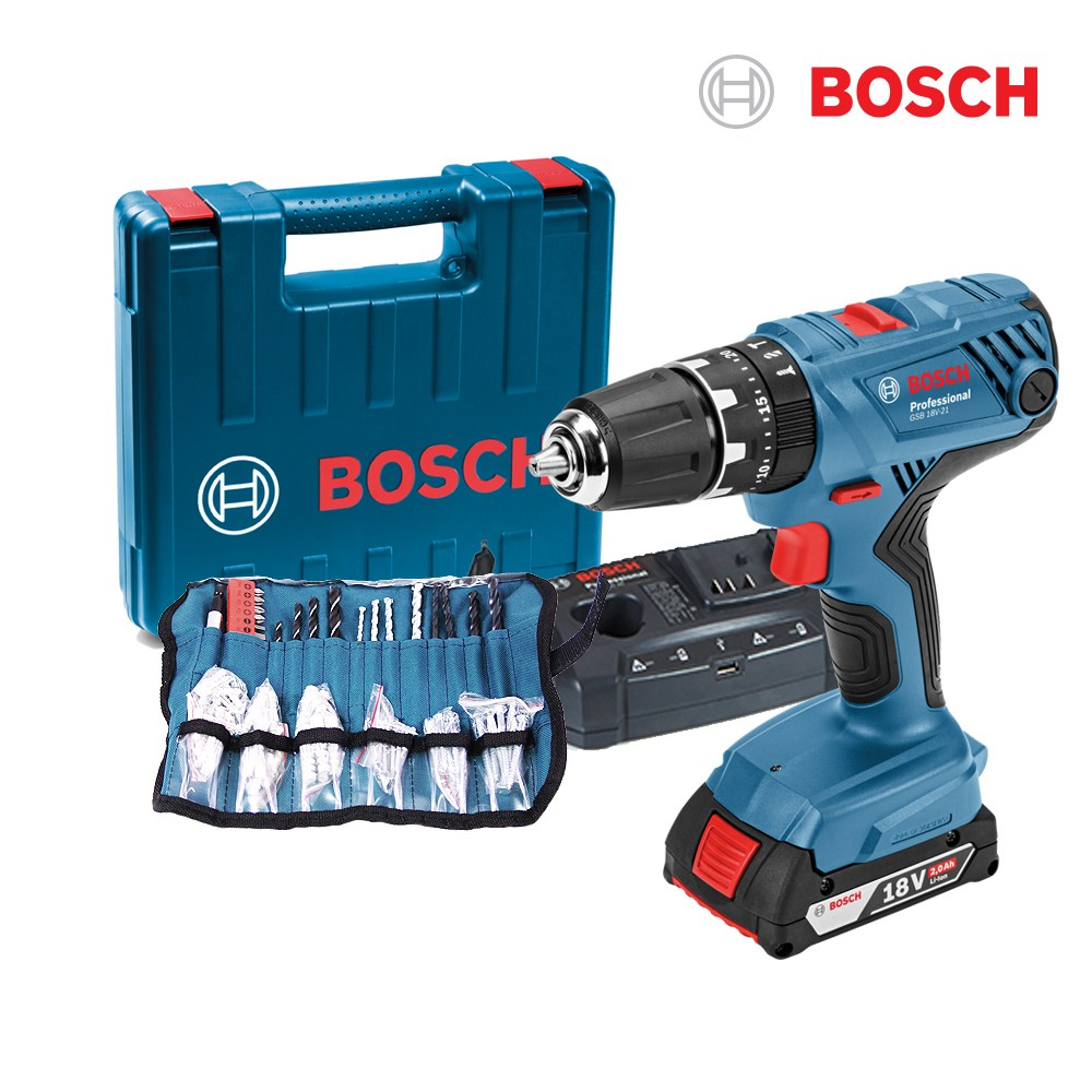 보쉬 보쉬18V충전 해머 전동드릴 GSB18V-21+100P소재