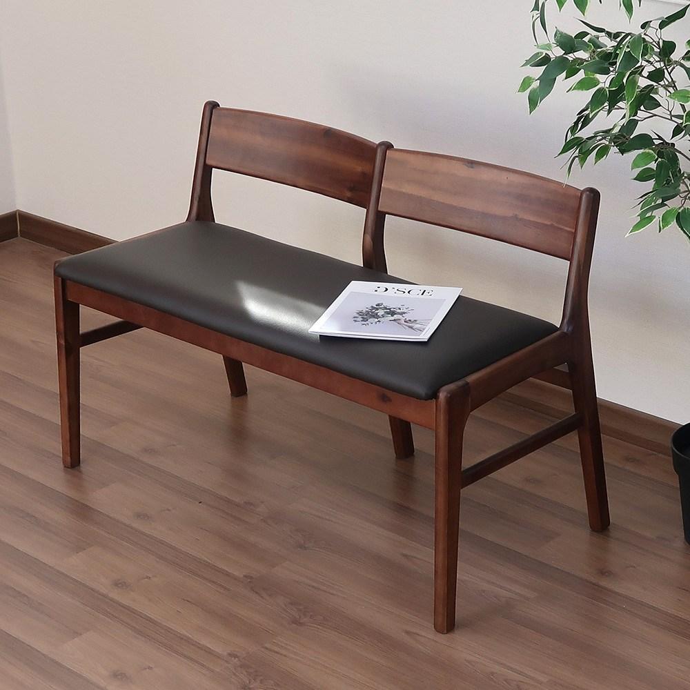 라로퍼니처 로렌 원목 2인용 벤치의자 인테리어벤치 긴의자 실내벤치, 1.로렌 2인용 벤치