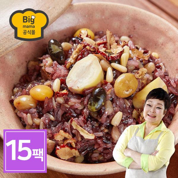 [빅마마 공식몰] 빅마마 이혜정의 꽉찬 수제 영양밥 15팩 (120g x 15개), 상세 설명 참조