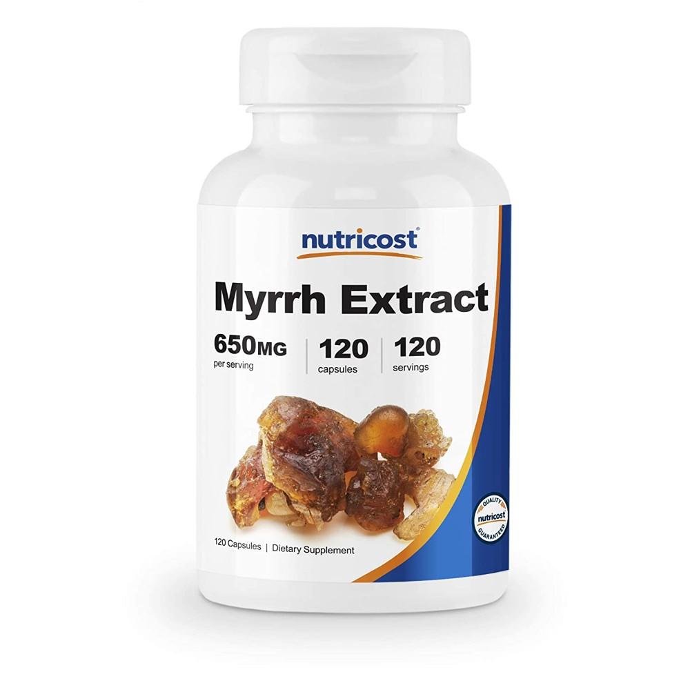 Nutricost 뉴트리코스트 미르 몰약 추출물 650mg 120캡슐