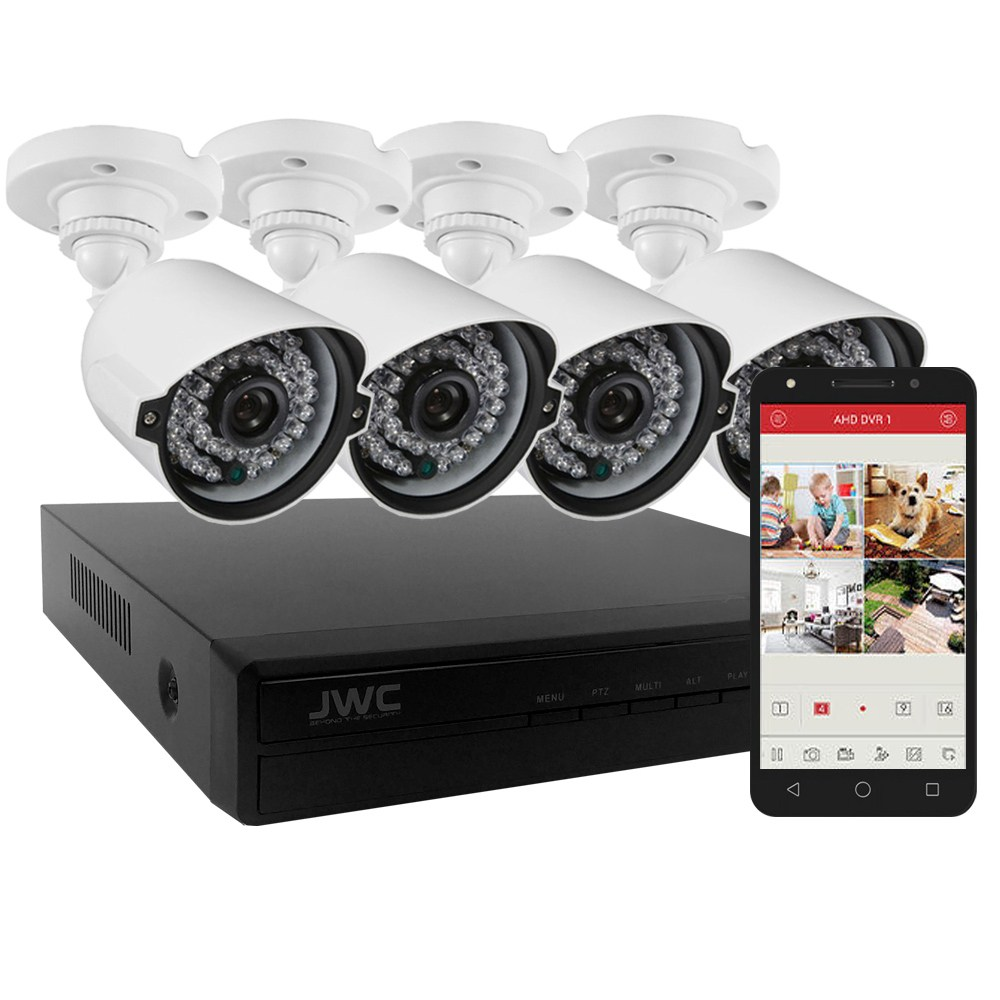 현우CCTV FULL HD 240만화소 CCTV 카메라 4대 녹화기 세트, FULL HD 240만화소 CCTV 카메라4대+녹화기 1T 장착