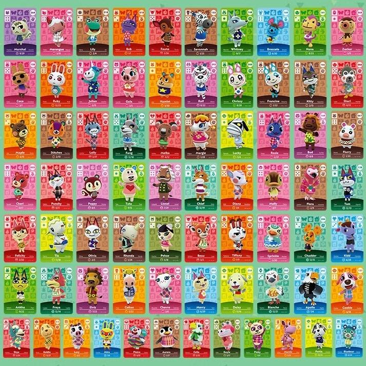 호환품 미니카드 모여봐요 동물의 숲 아미보 카드 24종 72종 세트, 1개, 옵션 2 스탠다드 72종 카드세트 (모동숲 호환)