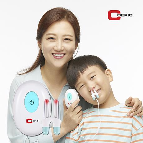 코에픽 장윤정 비염치료 가정용 비염치료기 의료기기, 2인용