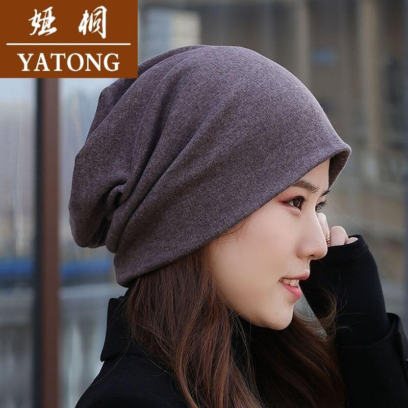 후드 모자 얇 은 여성 버 전 컬러 카 라 후드 천 커 플 패션 모자 모자 대머리 모자 패션 그레이 가 디 건 프 리 사이즈 54 - 65cm (탄성 높 음)