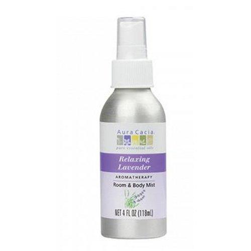아우라카시아 퓨어 에센셜 오일 아로마테라피 룸 & 바디 미스트, lavender, 118ml