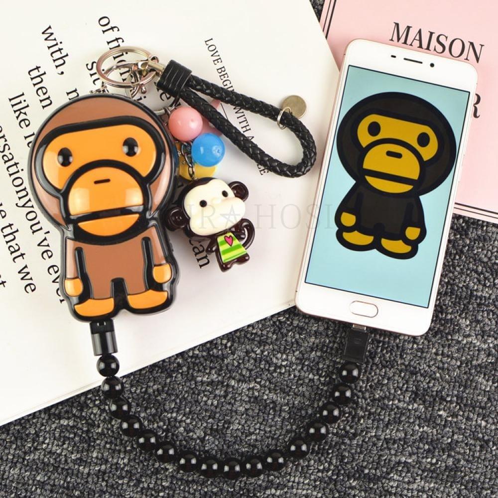 kirahosi M20000 대용량 원숭이 보조배터리 휴대용 미니 애플 삼성 LG범용 급속 충전 37호+ 덧신 증정 BMk5cof8, 20000mAh, 사진색 안드로이드