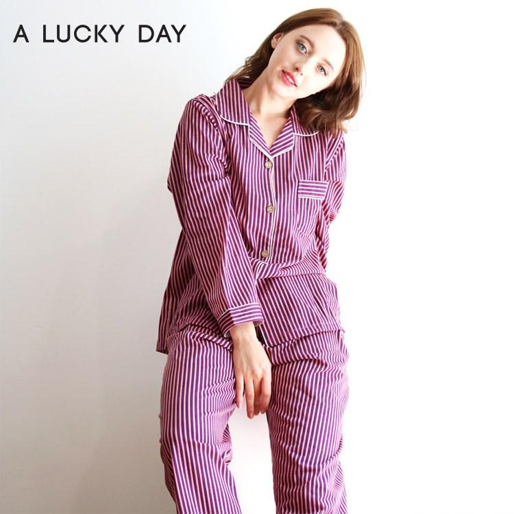패션갤러리 운수좋은날 자주스트 투피스 여성 잠옷