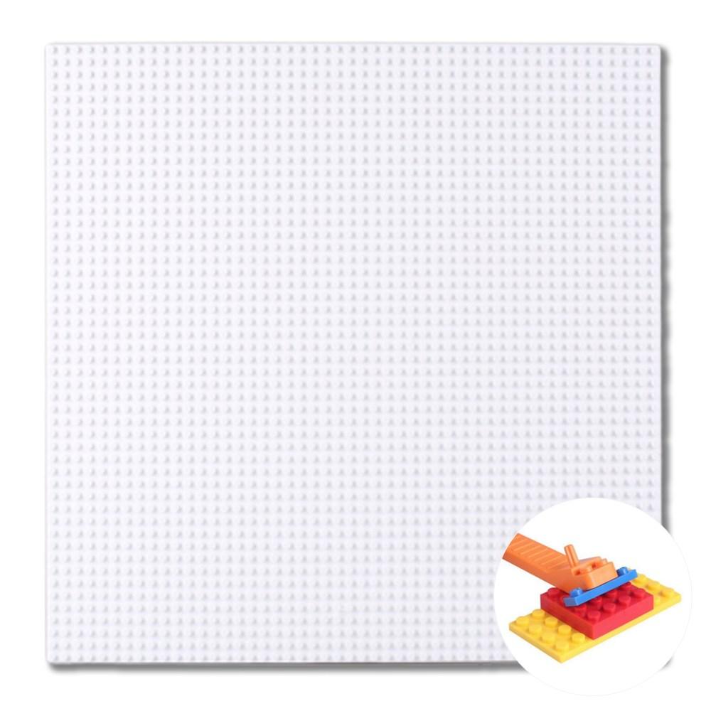 토이다락방 레고판 40*40cm 대형 놀이판 밑판 레고호환블록, 흰색+레고분해기