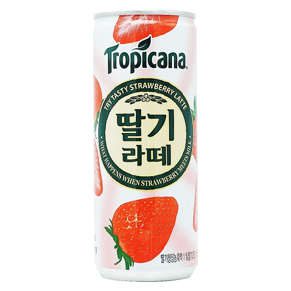 롯데칠성 트로피카나딸기라떼 240ml 캔 30개입, 30개