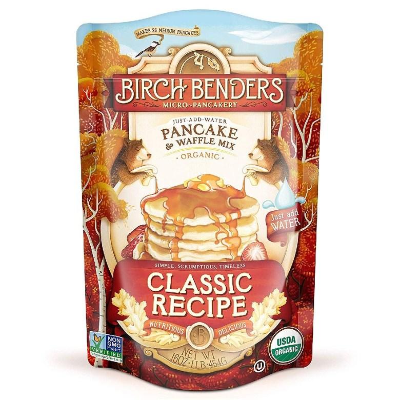 Birch Benders 버치 벤더스 GMO 무첨가 오가닉 팬케이크 & 와플 믹스 454 g, Classic16 Ounce (Pack of 1), 454g