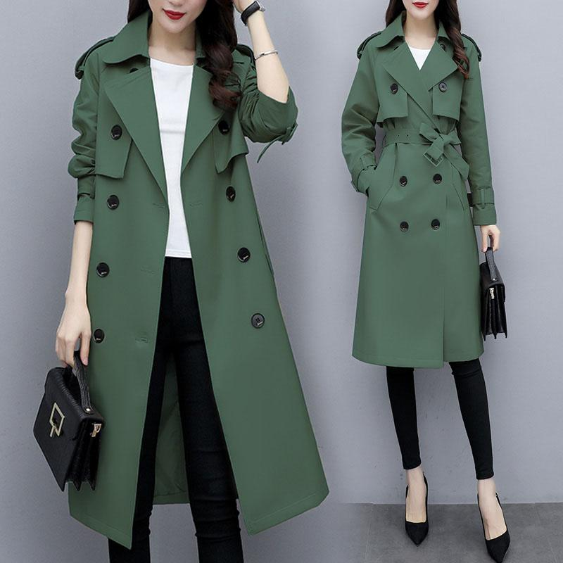 엘앤엘 여성 트렌치코트 봄 가을 재킷 자켓 바바리 코트 +파우치 증정 38PH1B