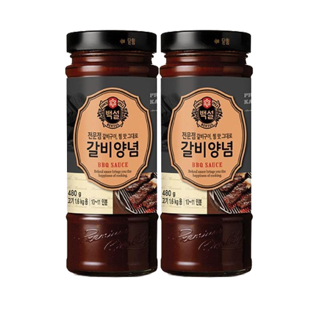 (상온)백설 갈비양념480gx2개, 1세트