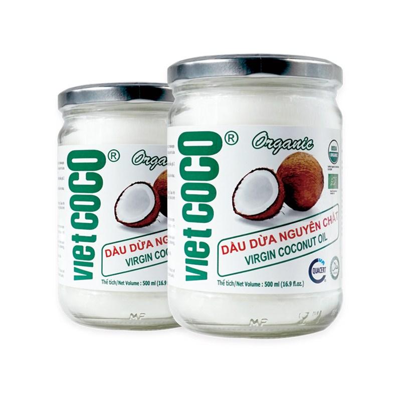 유기농 코코넛오일 버진 100% 비엣코코 2병 1+1병 식용, 500ml