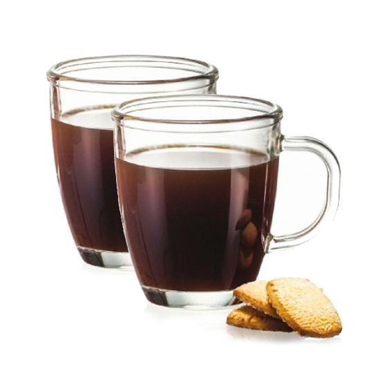락앤락 오븐글라스 커피 주스 머그 2P, 1개, LLG021S2 360ml 2P