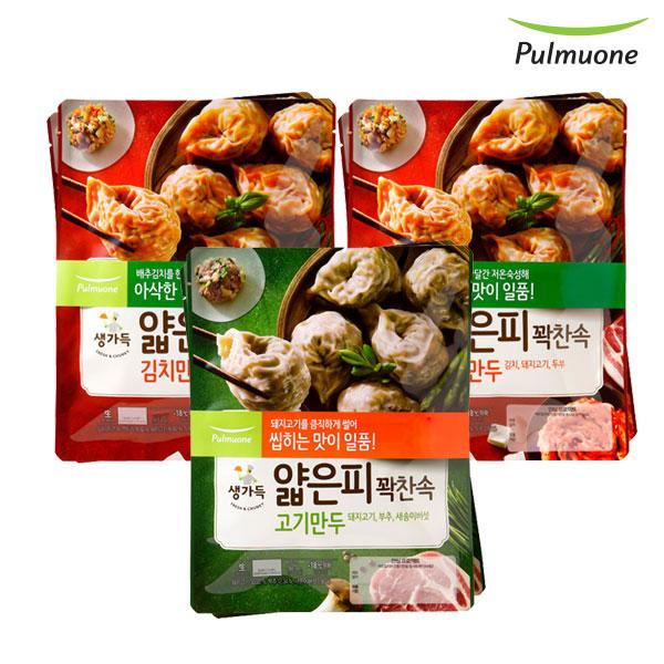 [풀무원]얇은피꽉찬속 김치만두 4봉+고기만두 2봉(총6봉)(각 440g), 단품