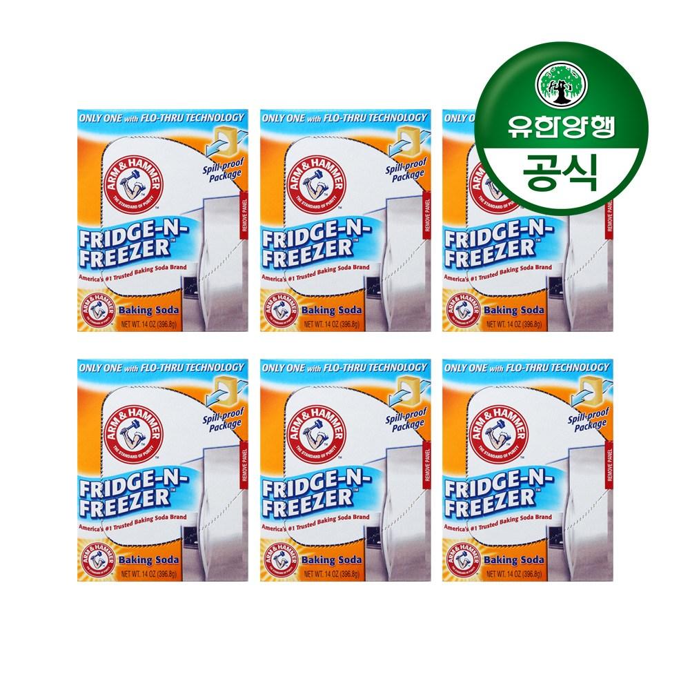 유한양행 [본사직영] 암앤해머 프리지앤프리저 냉장 냉동고용 탈취제(스탠드형)x6개, 1개, 단품